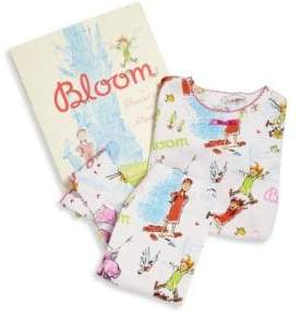 Books To Bed Little Girl's& Girl's Bloom Pajama and Book Set