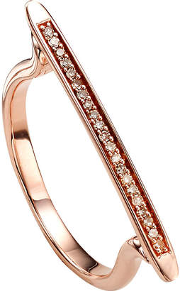 Monica Vinader Skinny 18ct rose gold-plated vermeil and diamond ring