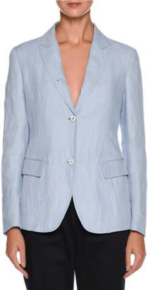 Giorgio Armani Two-Button Relaxed Linen Jacket