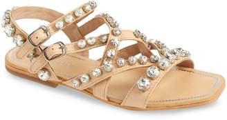 Jeffrey Campbell Calath-J Crystal Embellished Strappy Sandal