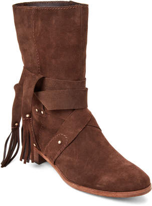 See by Chloe Dark Brown Suede Studded Boots
