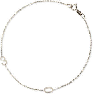 Maya Brenner Designs Mini 2-Number Bracelet, White Gold