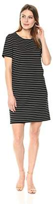 Lark & Ro Amazon Brand Women's Short Sleeve Round Neck Shift Dress