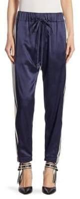 Monse Side Striped Silk Jogger Pants