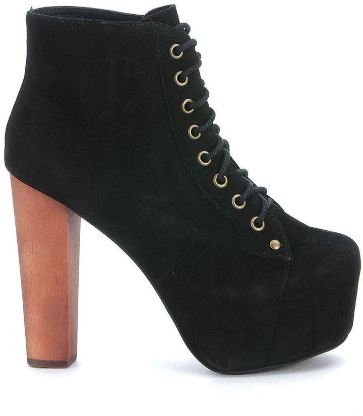 Jeffrey CampbellJeffrey Campbell Lita Black Suede Ankle Boots