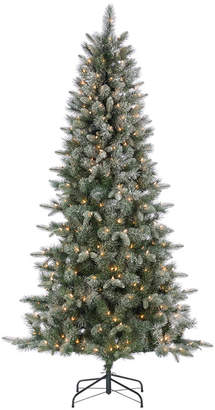 Sterling Tree Company 6.5Ft. High Flocked Pre-Lit Hard Mixed Needle Boise Pine With Warm White Lights