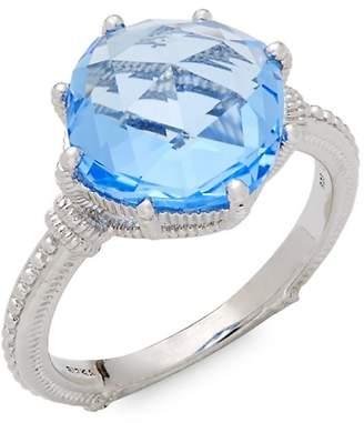 Judith Ripka Women's Solitaire Blue Quartz Ring