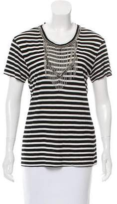 The Kooples Embellished Striped Top