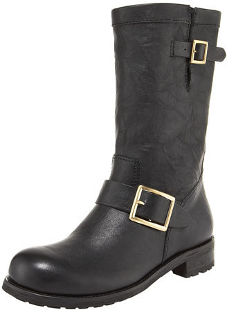 Jimmy Choo Jimmy Choo Biker Buckled Motorcycle Boot