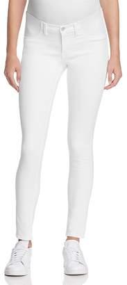 J Brand Mama J Skinny Maternity Jeans in Blanc $188 thestylecure.com