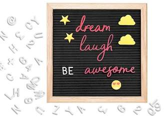 SARINA Black Felt Message Board