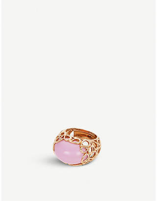 Rosegold BUCHERER JEWELLERY Lacrima 18ct rose-gold and diamond ring