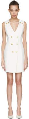 Pierre Balmain Off-White Sleeveless Short Dress