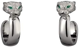 Cartier White Gold and Diamond Panthère de Earrings