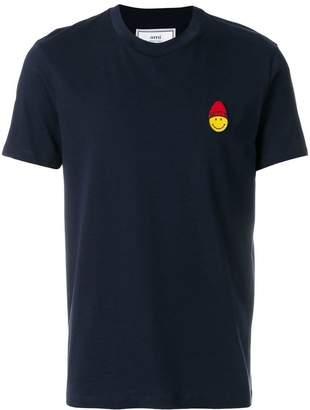 Ami Alexandre Mattiussi Crewneck T-Shirt Smiley Patch