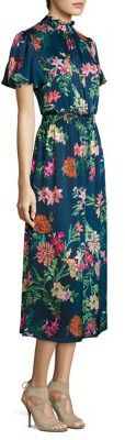 Laundry by Shelli Segal Smocked Floral-Print Midi Dress $168 thestylecure.com