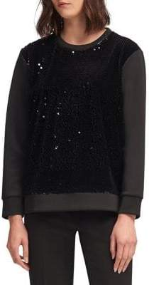 DKNY Velvet Sequin Sweater