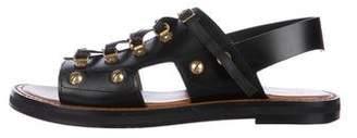 Christian Dior Leather Embellished Sandals