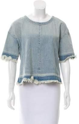 J Brand Denim Short Sleeve Top