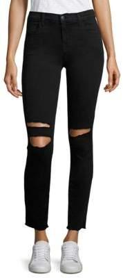 J Brand Distressed Ankle Skinny Jeans