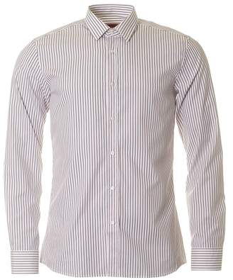 HUGO BOSS Hugo By Elisha Striped Slim Fit Shirt