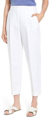 Blend of America Lewit Button Side Crop Linen Pants