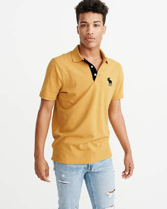 Abercrombie & Fitch Stretch Exploded Icon Polo