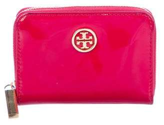 Tory Burch Patent Leather Logo Wallet