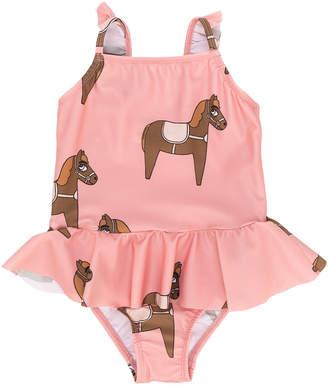 Mini Rodini pony print frilled swimsuit