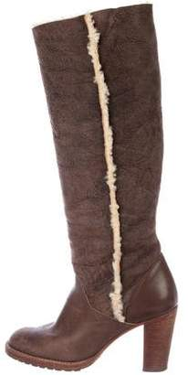 KORS Suede Knee-High Boots