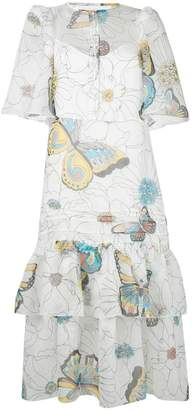 See by Chloe printed panel dress