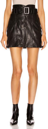 Marissa Webb Claire Leather Skirt in Black | FWRD