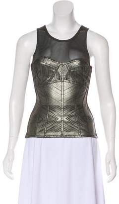 Herve Leger Illusion Sleeveless Top w/ Tags