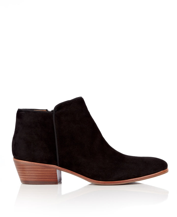 Sam Edelman Black Petty Flat Suede Ankle Boot