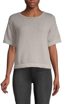 Brunello Cucinelli Knitted Short-Sleeve Cotton Sweater