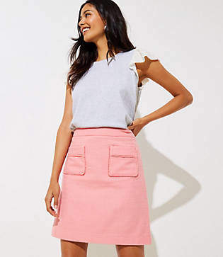 LOFT Lacy Patch Pocket Skirt