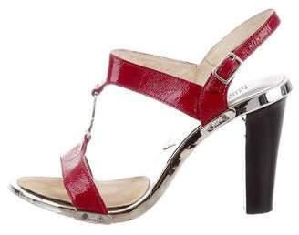 592deceb3497 MICHAEL Michael Kors Red Leather Women s Sandals - ShopStyle
