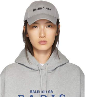 Balenciaga Grey Logo Cap