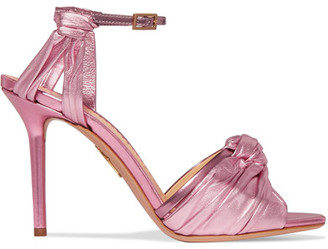 Broadway Metallic Leather Sandals - Pink
