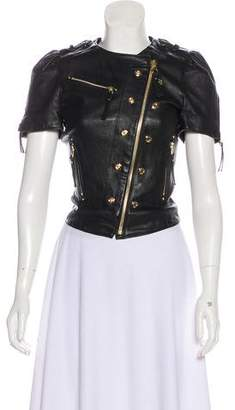 Thomas Wylde Leather Short Sleeve Jacket