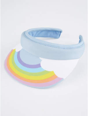 George Pale Blue Rainbow Visor