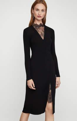 BCBGMAXAZRIA Lace Neck Dress