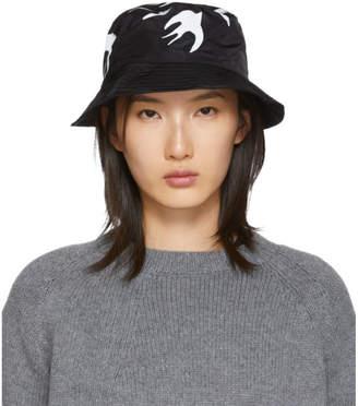 McQ Black Swallow Bucket Hat