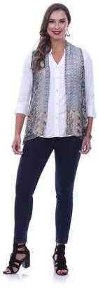 Parsley & Sage Abstract Georgette Vest