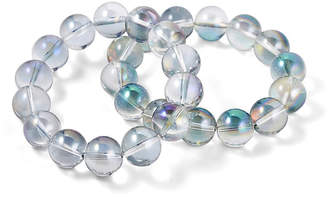 Nest Set of 2 Iridescent Quartz Stretch Bracelets