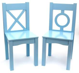 Lipper Child's Chairs, Set of 2, Light Blue