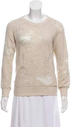IRO Distressed Knit Sweatshirt
