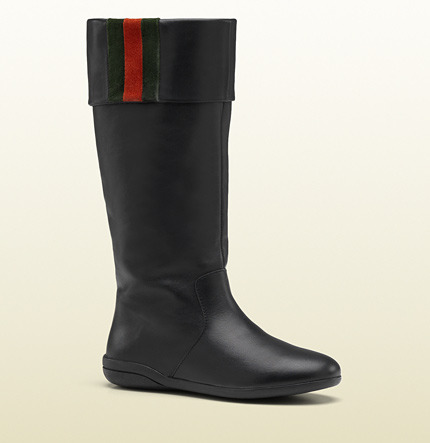 Gucci Boot With Signature Web Detail.
