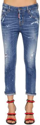 DSQUARED2 Cool Girl Faded Wash Cotton Denim Jeans