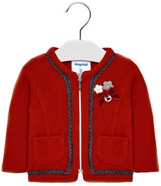 Mayoral Baby-Girl-Red-Zip-Up-Cardigan-Jacket